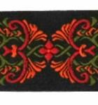 10m Borte Webband 35mm breit Farbe: Schwarz-Rot-Orange-Grün