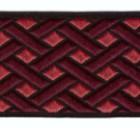 10m Borte Webband keltischer Knoten 35mm breit Farbe: Bordeaux-Bordeaux hell