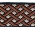 10m Borte Webband keltischer Knoten 35mm breit Farbe: Braun-Hellbraun
