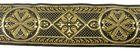 10m Mittelalter Borte Webband 40mm breit Farbe: Braun