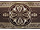 10m Mittelalter Borte Webband 50mm breit Farbe: Bordeaux-Gold