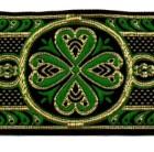 10m Mittelalter Borte Webband 50mm breit Farbe: Grün-Gold