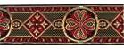 10m Mittelalter Borte Webband 50mm breit Farbe: Rot-Gold