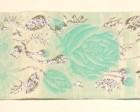 10m Rosenranken 50mm breit Wiesn Farbe: Weiss-Mint-Lurexsilber