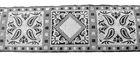 10m Borte Webband 50mm breit Farbe: Schwarz-Silber