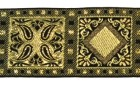 10m Kassetten Borte 25mm Farbe: Schwarz-Lurexgold