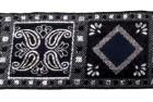 10m Borte Webband 50mm breit Farbe: Dunkelblau-Silber