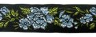 10m RosenBorte Webband 50mm breit Farbe: Hellblau-Schwarz