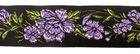 10m RosenBorte Webband 50mm breit Farbe: Violett-Schwarz