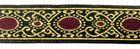 10m Brokat-Borte Webband 20mm breit Farbe: Lurexgold-Dunkelrot