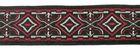 10m MitelalterBorte Webband 20mm breit Farbe: Rot-Schwarz-Weiss