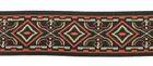 10m Mitelalterborte 20mm breit Terracotta-Beige-Schwarz