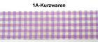 50m Karo-Borte Webband Wiesn 27mm breit Farbe: Flieder-Weiss-Silber
