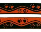 10m Borten Webband Hundemotiv Applikation 16mm breit Farbe: Schwarz-Terracotta