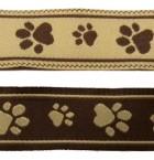 10m Hunde-Borte Webband 20mm breit Farbe: Braun-Beige