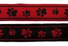 10m Hunde-Borte Webband 25mm breit Farbe: Schwarz-Rot