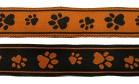 10m Hunde-Borte Webband 16mm breit Farbe: Schwarz-Terracotta
