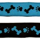 10m Hunde-Borte Webband 20mm breit Farbe: Schwarz-Türkis
