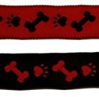 10m Hunde-Borte Webband 20mm breit Farbe: Schwarz-Rot