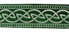 10m Keltischer Knoten weit Webband Borte 33mm breit Farbe: Grün-Silber