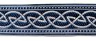 10m Keltischer Knoten weit Webband Borte 22mm breit Farbe: Blau-Silber