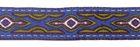10m Lava-Borte Webband 20mm breit Farbe: Blau-Zedergrün-Silber
