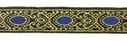 10m Mittelalterborte 20mm breit Farbe Lurexgold-Blau