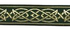 10m Mittelalterborte 25mm breit Farbe: Dunkelgrün-Gold