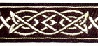 10m Mittelalterborte 25mm breit Farbe: Braun-Gold
