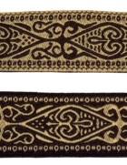 10m Mittelalter Trachten Borte Webband 20mm breit Farbe: Braun-Beige