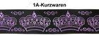 10m Kronen Borte Webband 35mm breit Farbe: Lila-Schwarz