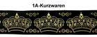 10m Kronen Borte Webband 35mm breit Farbe: Schwarz-Gold