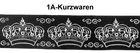 10m Kronen Borte Webband 35mm breit Farbe: Schwarz-Silber