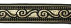 10m Borte Webband 35mm breit Farbe: Schwarz-Gold