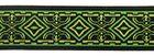 10m MitelalterBorte Webband 20mm breit Farbe: Grün-Gelb-Schwarz