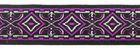 10m MitelalterBorte Webband 20mm breit Farbe: Magenta-Rosa-Schwarz
