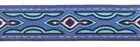 10m Lava-Borte Webband 25mm breit Farbe: Hellblau-Silber