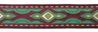 10m Lava-Borte Webband 20mm breit Farbe: Bordeaux-Türkis-Silber