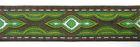 10m Lava-Borte Webband 20mm breit Farbe: Grün-Braun-Silber