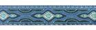 10m Lava-Borte Webband 20mm breit Farbe: Blau-Türkis-Silber