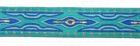 10m Lava-Borte Webband 20mm breit Farbe: Blau-Türkis-Gold