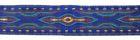 10m Lava-Borte Webband 20mm breit Blau-Türkis-Magenta-Gold