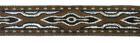 10m Lava-Borte Webband 20mm breit Braun-Dunkelbraun-Silber