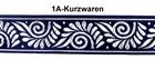 10m Mittelalter Borte Webband 35mm Farbe: Dunkelblau-Silber