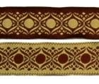 10m Mittelalter-Borte Webband 20mm breit Farbe: Bordeaux-Beige