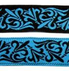 10m Mittelalter-Borte Webband 20mm breit Farbe: Schwarz-Blau
