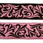 10m Mittelalter-Borte Webband 20mm breit Farbe: Schwarz-Rose