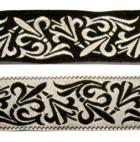 10m Mittelalter-Borte Webband 20mm breit Farbe: Schwarz-Silber