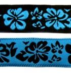 10m Blumen-Borte Webband 20mm breit Farbe: Schwarz-Blau