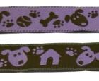 10m Hunde-Borte Webband 16mm breit Farbe: Braun-Lila